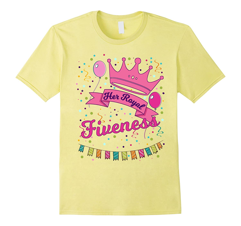Kids Her Royal Fiveness 5 Year Old Girl Birthday Gift Shirt T Shirt Managatee