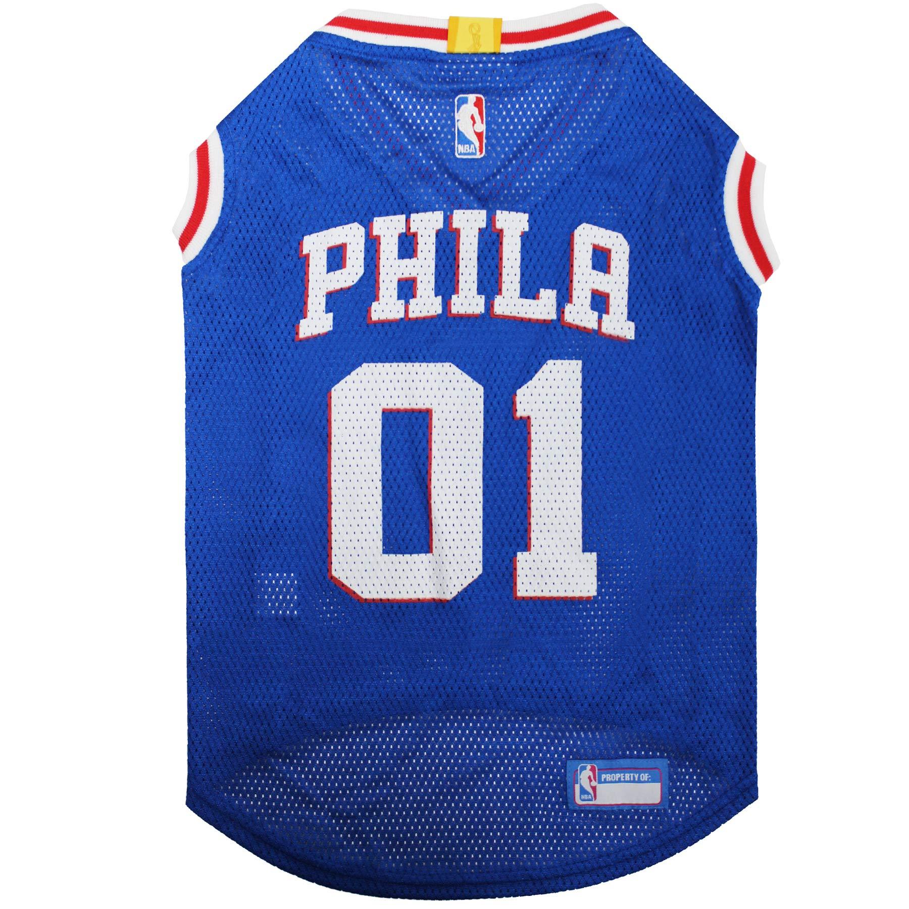 NBA PHILADELPHIA 76ERS DOG Jersey, X-Large - Tank Top Basketball Pet Jersey
