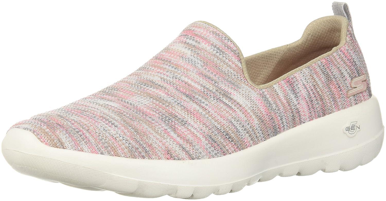 Skechers Women's Go Walk Joy-15615 Sneaker B07537MG9T 13 B(M) US|Taupe/Coral