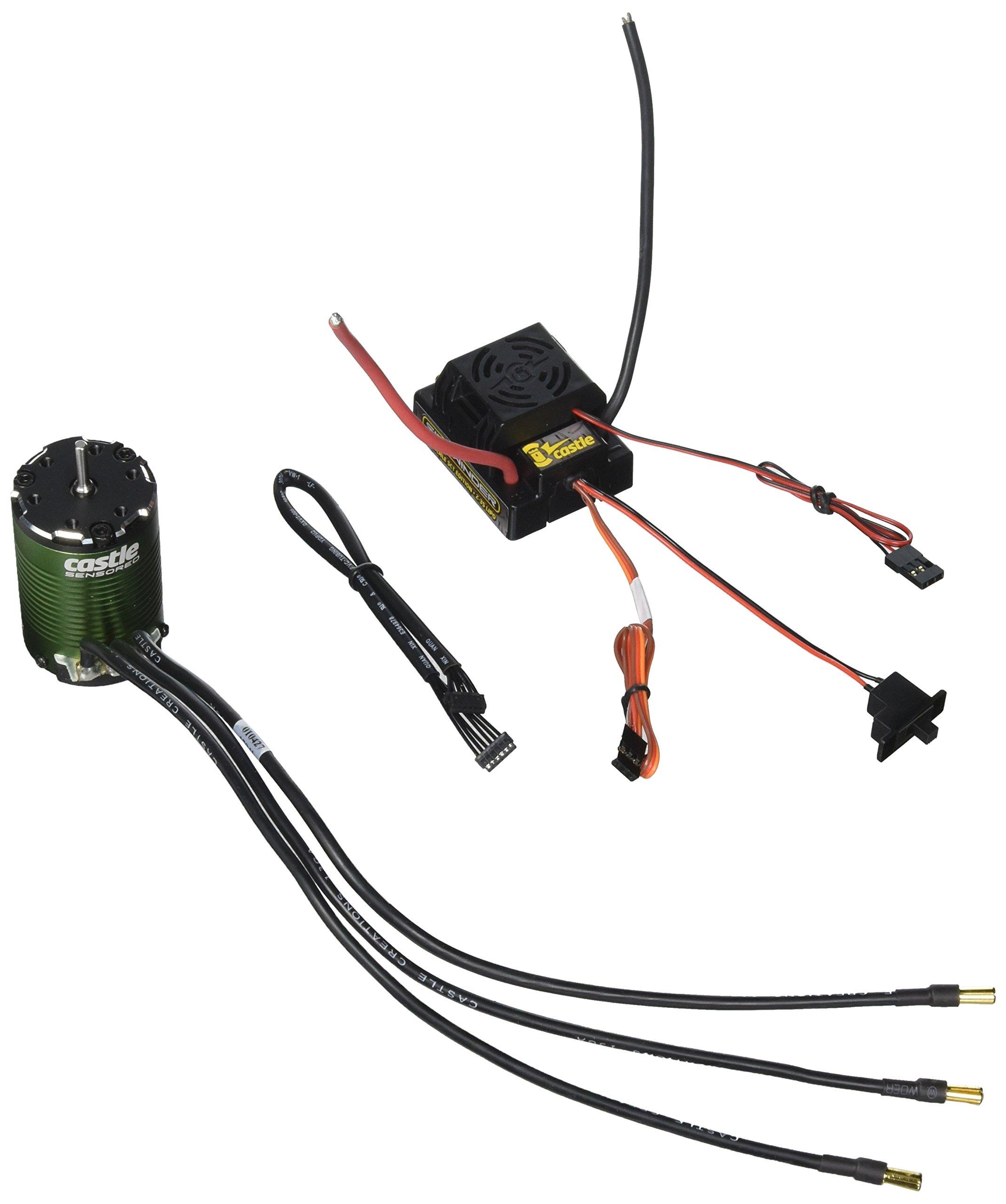 Castle Creations Sidewinder SCT Waterproof 1:10TH 12V ESC and 1410-3800KV  Motor