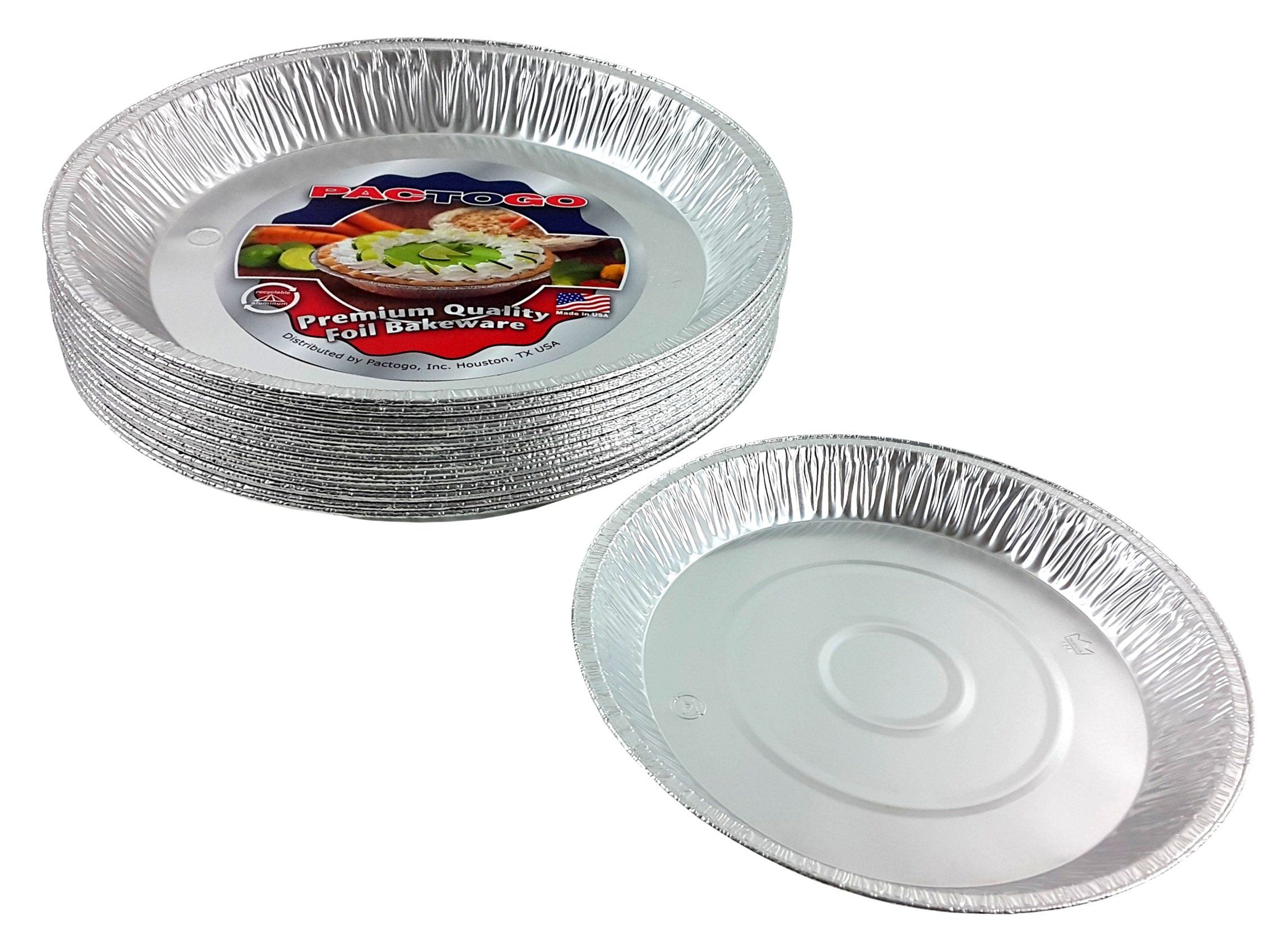 Pactogo 12'' Aluminum Foil Pie Pan Extra-Deep Disposable Tin Plates (Pack of 500) by PACTOGO (Image #4)