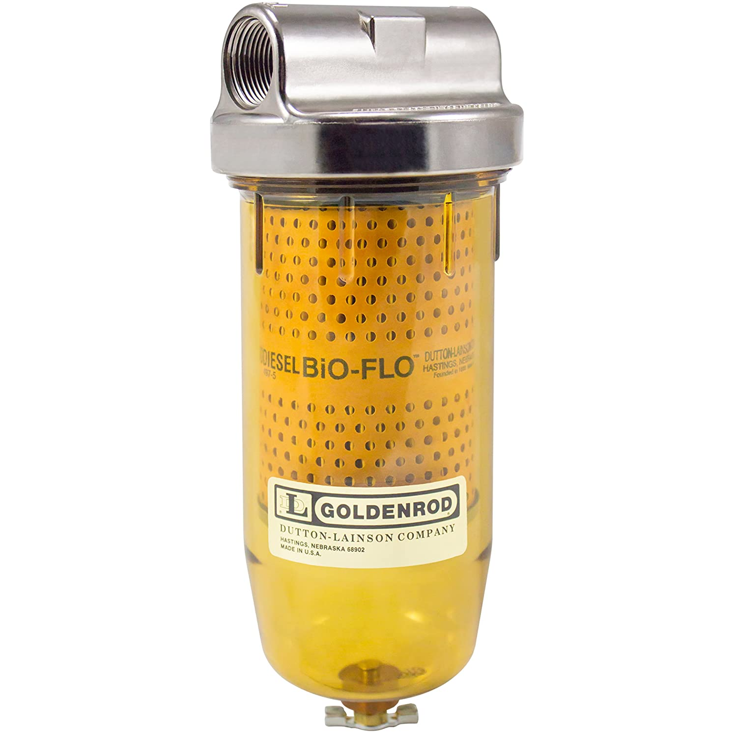 GOLDENROD (497-3/4) Bowl Bio-Flo Fuel Tank Filter with 3/4