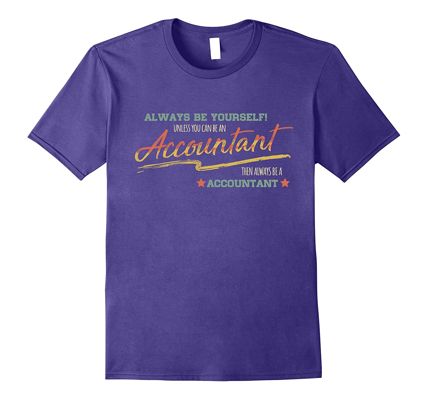 Accountant funny Shirt Accountant Vintage Typo Art Gifts-TD