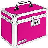 "Vaultz Locking Storage Box, 7.8"" x 7.2"" x 10"", Pink (VZ00802)"