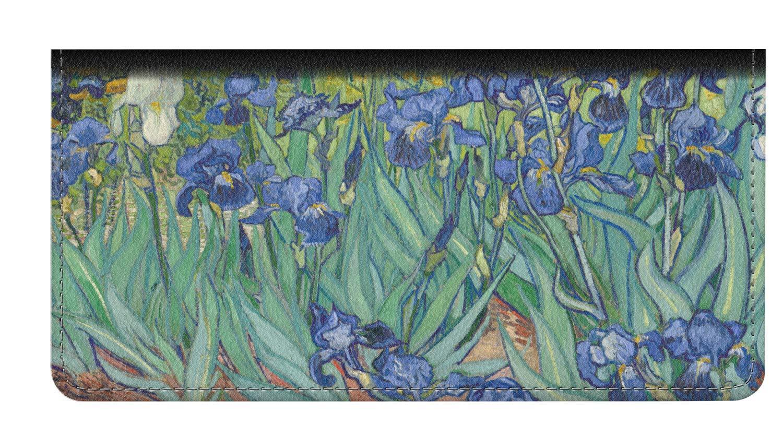 Irises (Van Gogh) Genuine Leather Checkbook Cover by YouCustomizeIt