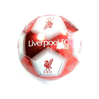c1c80936a93 Liverpool FC Anfield Signature Size 5 Football (5) (White Red)   Amazon.co.uk  Clothing