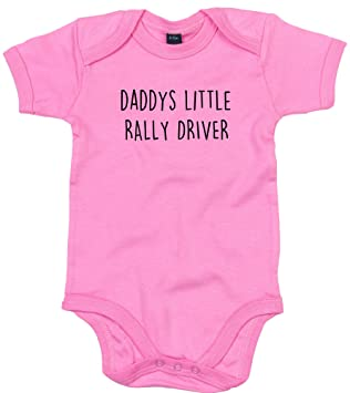 DRIVER BODY SUIT PERSONALISED DADDYS LITTLE BABY GROW GIFT
