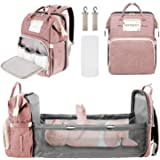 Baby Diaper Backpack, Insulated Bottle Warmer Newborn Registry for Baby Shower Gifts, Portable Nappy Bags for Girls Boys, Mul