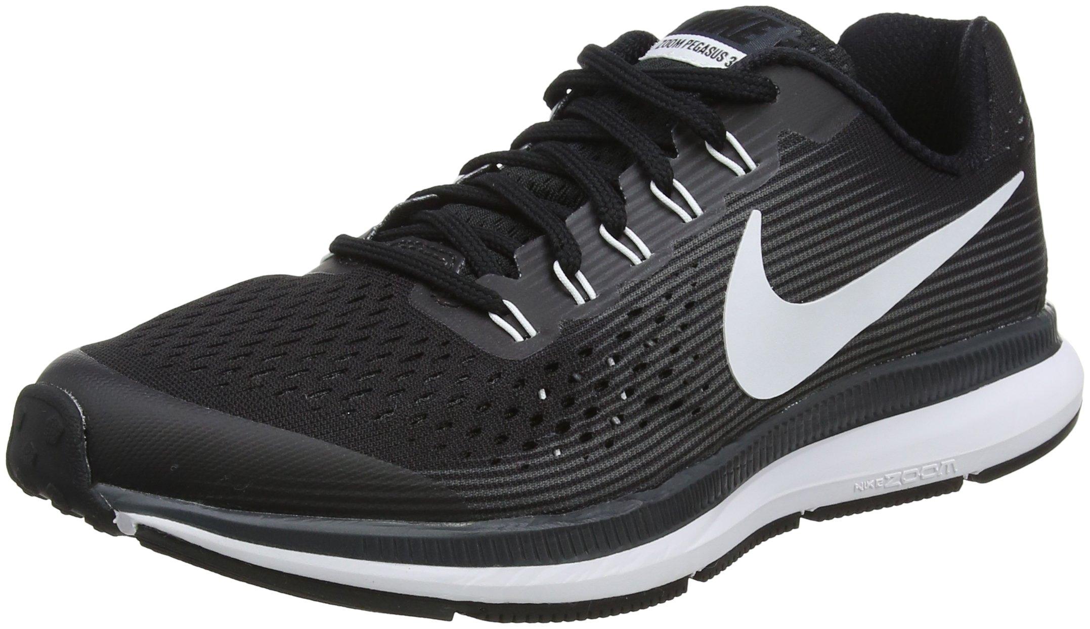 NIKE Boy's Zoom Pegasus 34 (GS) Running Shoe Black/White/Dark Grey/Anthracite Size 6 M US