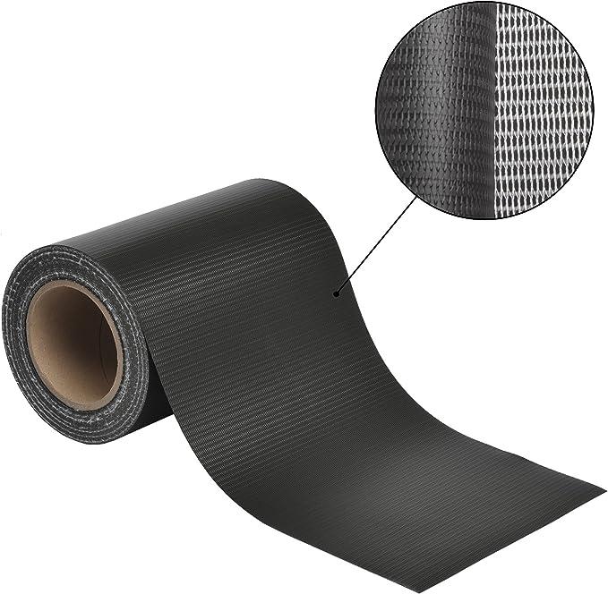 25 Clips Sol Royal 35m Zaun Sichtschutzstreifen SolVision ST6 PVC Sichtschutz Doppelstabmatten-Zaun in Anthrazit Inkl