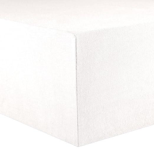 CelinaTex Lucina Sábanas Ajustables algodón 180x200-200x200 cm Blanco Nieve: Amazon.es: Hogar