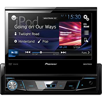 pioneer in dash radio. avh-x6800dvd - pioneer in-dash 1-din 7\u0026quot; flip-out in dash radio o