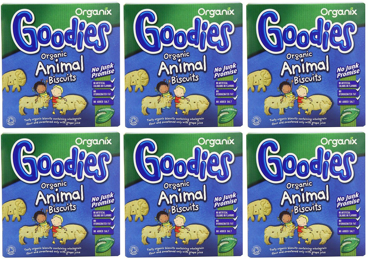 (6 PACK) - Organix - Goodies Animal Biscuits | 100g | 6 PACK BUNDLE