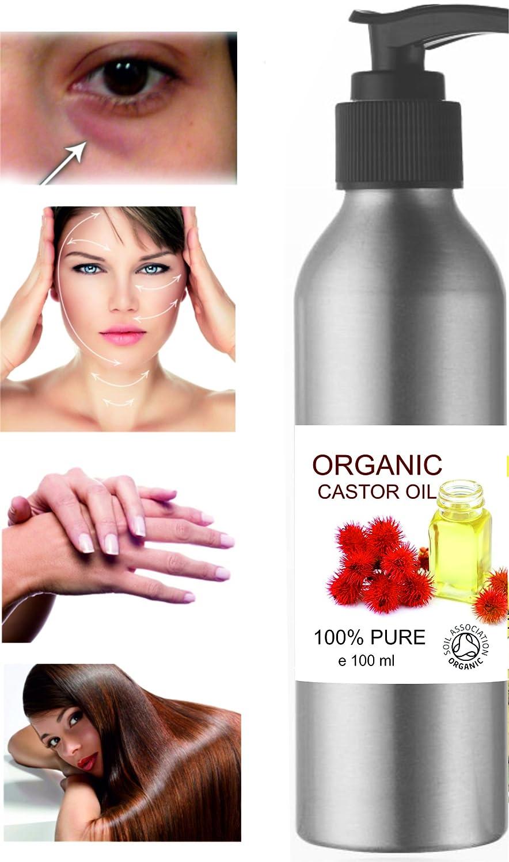 ECOLOGICO Aceite de Ricino 100% Puro Natural 100 ml - Castor Oil - Propiedades Fabulosas - Aceite de Belleza Anti bolsas, Suavizante Cabello, ...