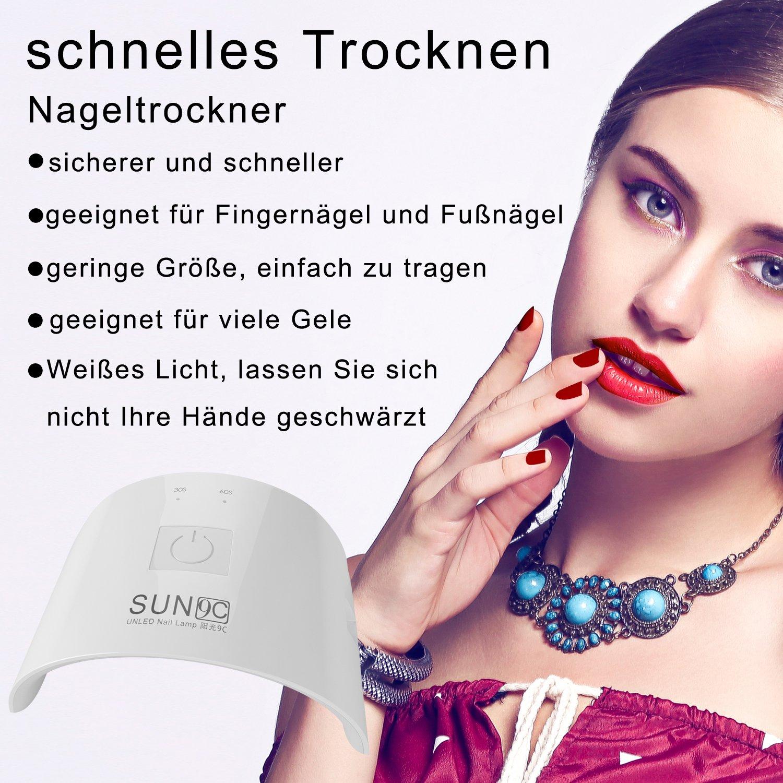 ACEVIVI 24W Nageltrockner Nail Dryer LED UV-Nagellampe ...