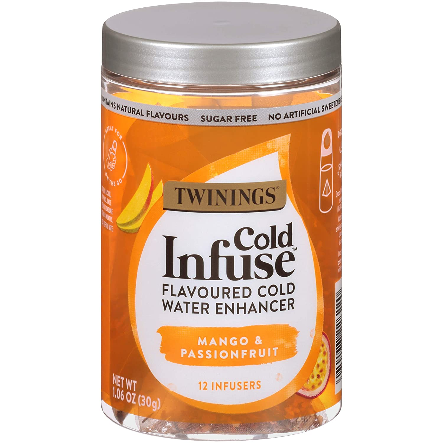 Twinings Cold Infuse Flavored Water Enhancer, Mango & Passionfruit, 12 Infusers (Pack of 6)