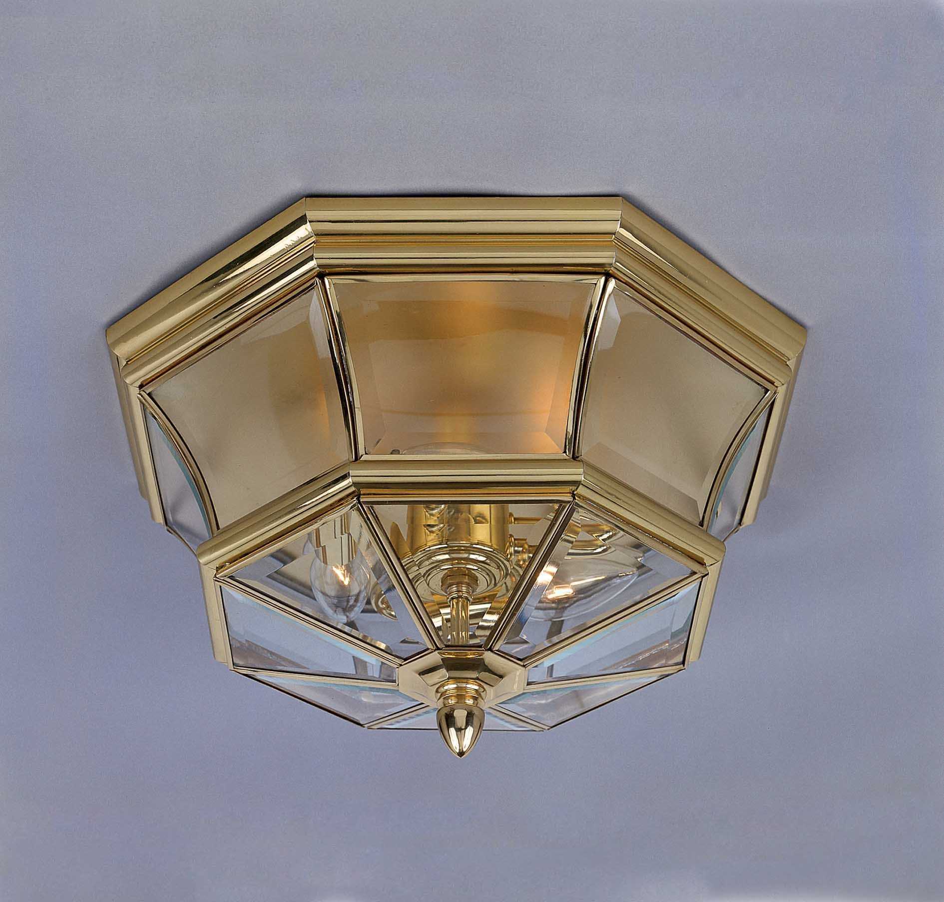 Quoizel NY1794B 3-Light Newbury Outdoor Lantern in Polished Brass