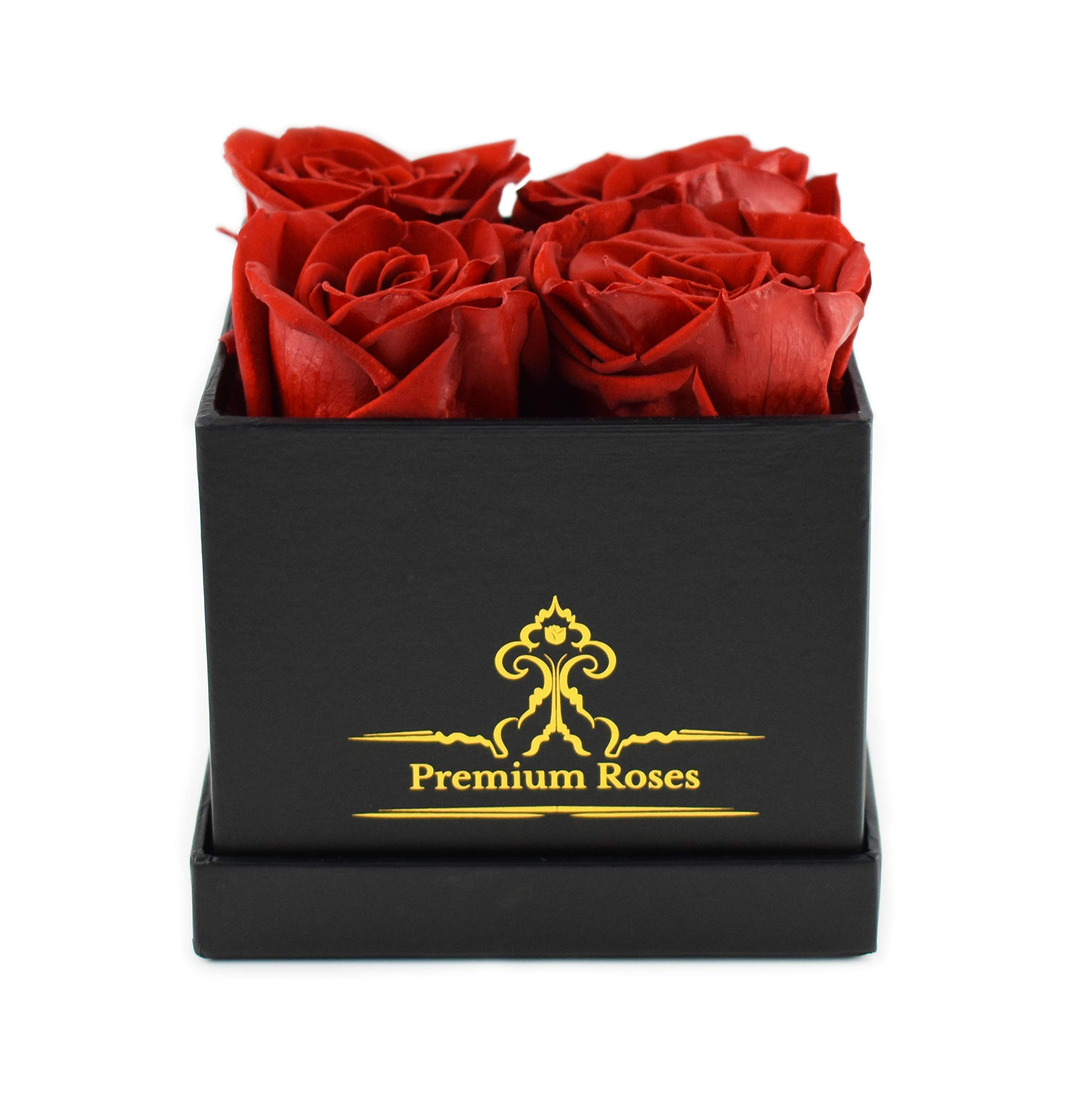 Premium Roses | Model Posh | Real Roses That Last 365 Days | Roses in a Box| Fresh Flowers (Black Box, Small) by Premium Roses (Image #3)