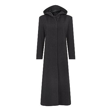 De La Creme - Frauen Winter-Wolle   Kaschmir mit Kapuze voller Länge Mantel, d2d23c35d7