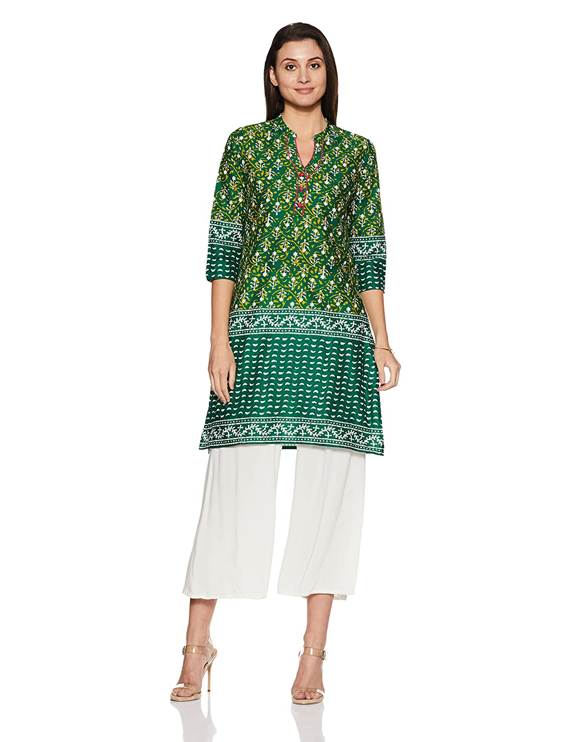 c28979d4f Rangmanch by Pantaloons Women s Straight Fit Kurta  Amazon.in  Clothing    Accessories
