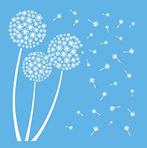 DecoArt Americana Mixed Media Stencil, 12 by 12-Inch, Dandelion