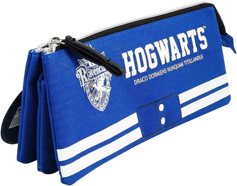 Harry Potter Ravenclaw Estuche Portatodo con 3 Cremalleras Escolar Làpices de colores Necesser: Amazon.es: Ropa y accesorios