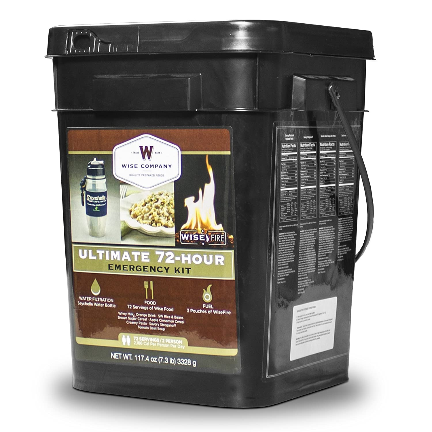 Wise Company, Ultimate 72 Hour Emergency Kit, Food Supply, Water Filtration and Fire Starter