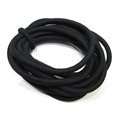 7mm (Approximately 1/4 inch) Elastic Bungee Polyester Cord (10ft, black)