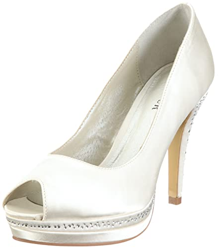 Menbur Wedding Julia Damen Peep-Toe Pumps