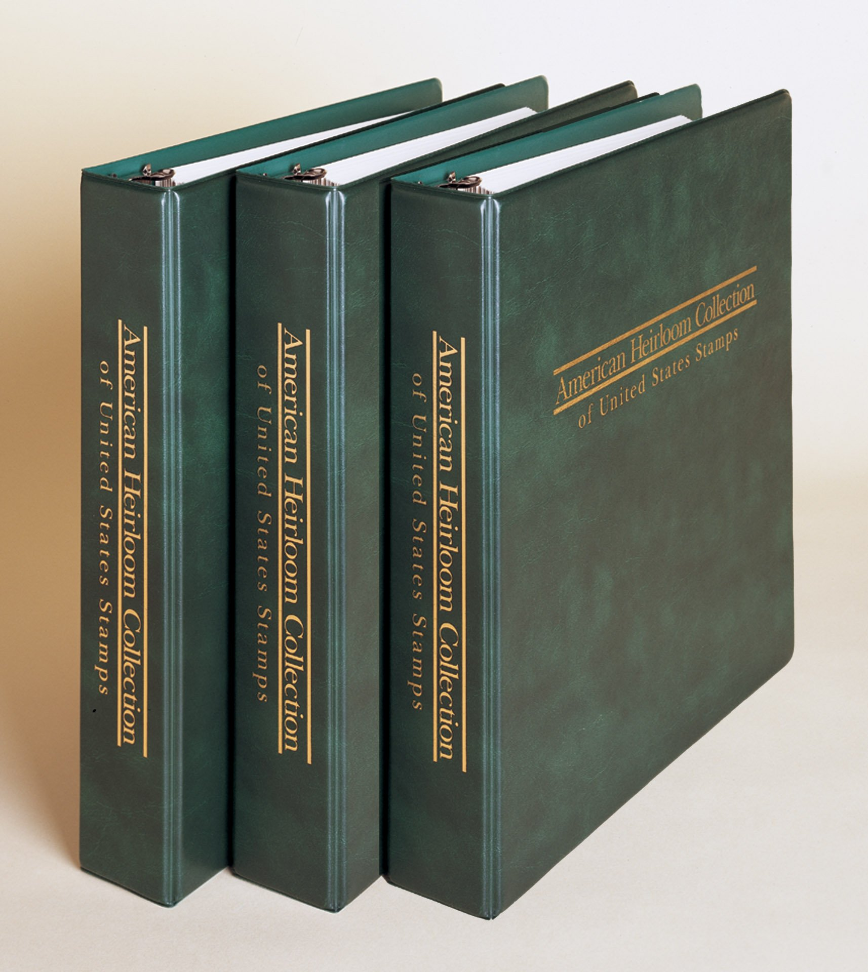 Mystic's 3-volume American Heirloom Stamp Album with 200 Free U.S. Stamps and 1,000 Hinges