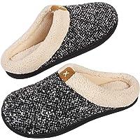 VeraCosy Zapatillas de Estar por Casa Hombre Espuma de Memoria Cómoda Forro de Felpa Interior&Exterior Antideslizantes…