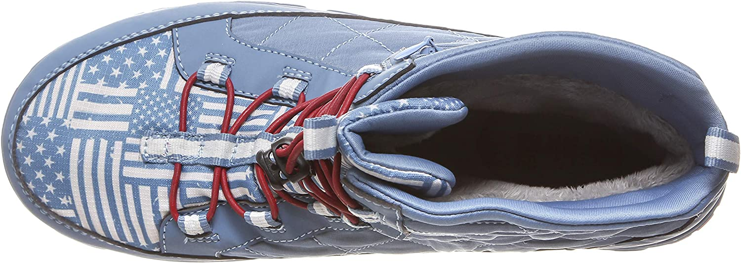 Sizes 8-13 Apr/ès Ski Boot Men/'s Lightweight After Sport and Perfect for Everyday and Travel Boot- Above Ankle High Packable Waterproof Pakems Americana