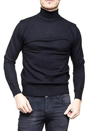 Yves Enzo - Pull habillé Maurice Col Montant Noir  Amazon.fr  Vêtements et  accessoires b80a1663cb44