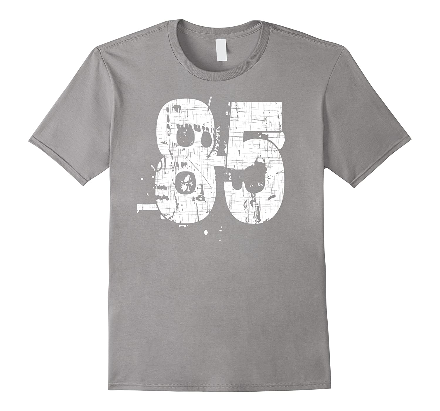 85 Numbered T-Shirt printed front and back in super grunge-PL