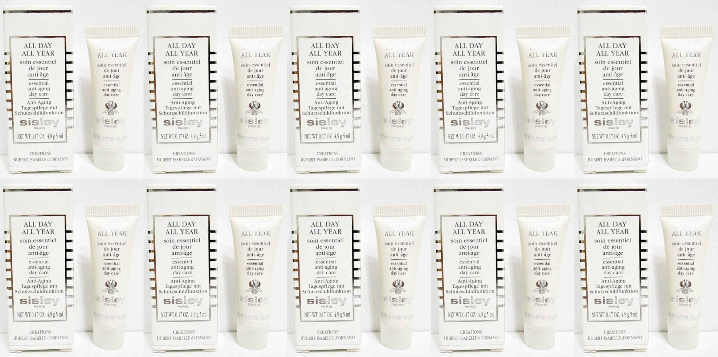 Sisley All Day All Year Essential Day Care 4ml x 10 tubes (40ml) Travel size