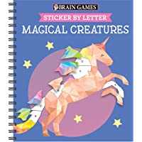 Brain Games - Sticker by Letter: Magical Creatures (Sticker Puzzles - Kids Activity Book)