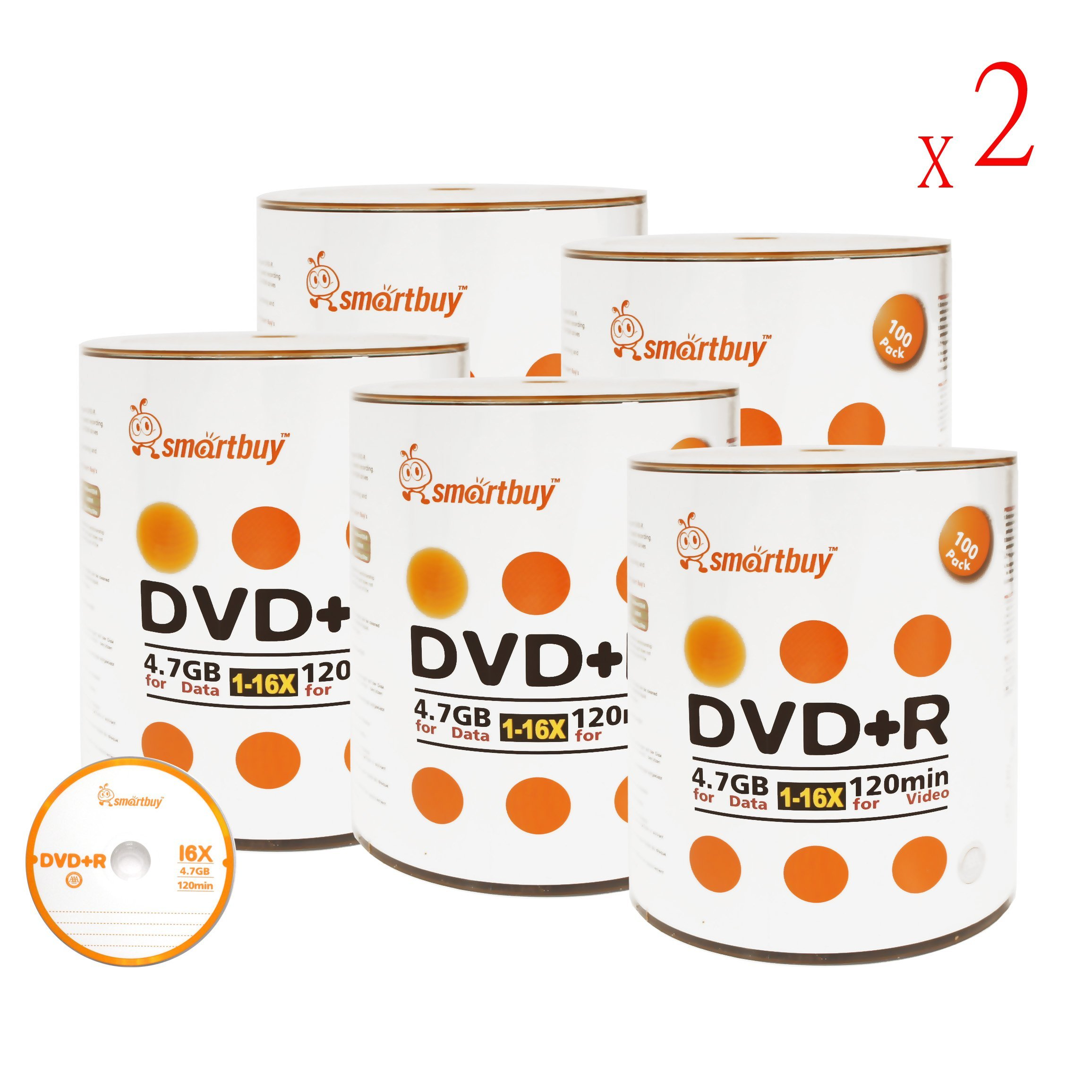 Smart Buy 1000 Pack DVD+R 4.7gb 16x Logo Blank Data Video Movie Recordable Disc, 1000 Disc 1000pk
