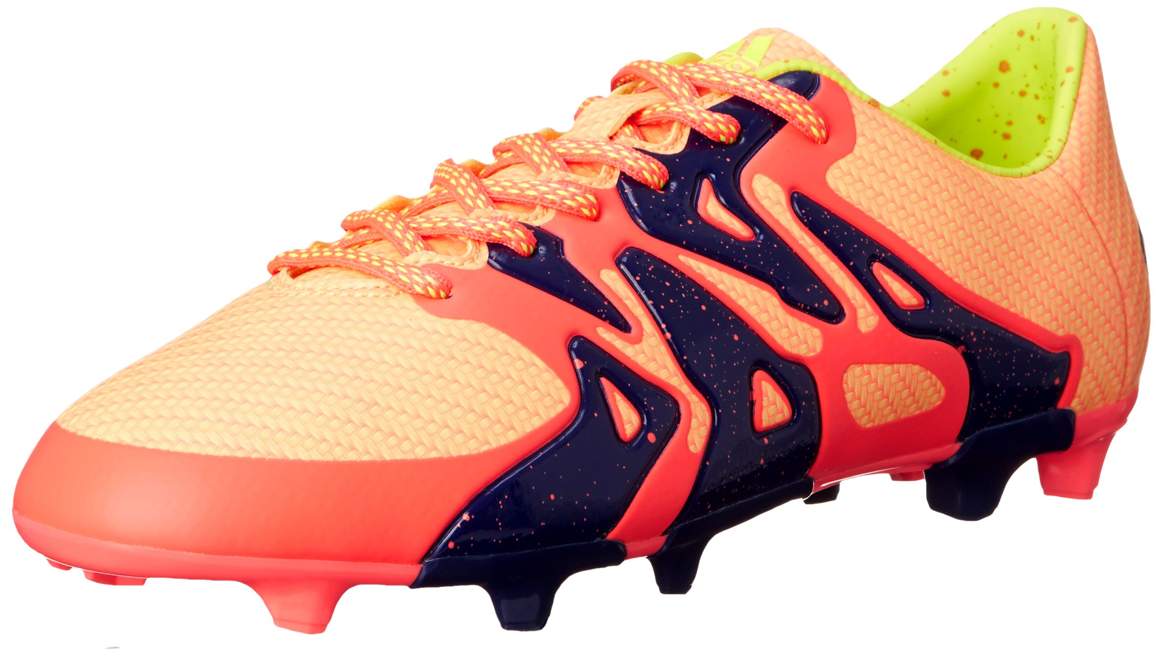 adidas Performance Women's X 15.3 FG/AG W Soccer Cleat,Pink/Yellow/Midnight Indigo Blue,5 M US