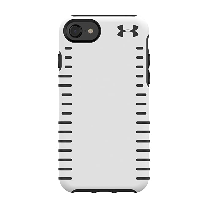 info for 02812 ea85d Under Armour UA Protect Grip Case for iPhone 8 - Also Compatible with  iPhone 7, iPhone 6/6s - White/Black
