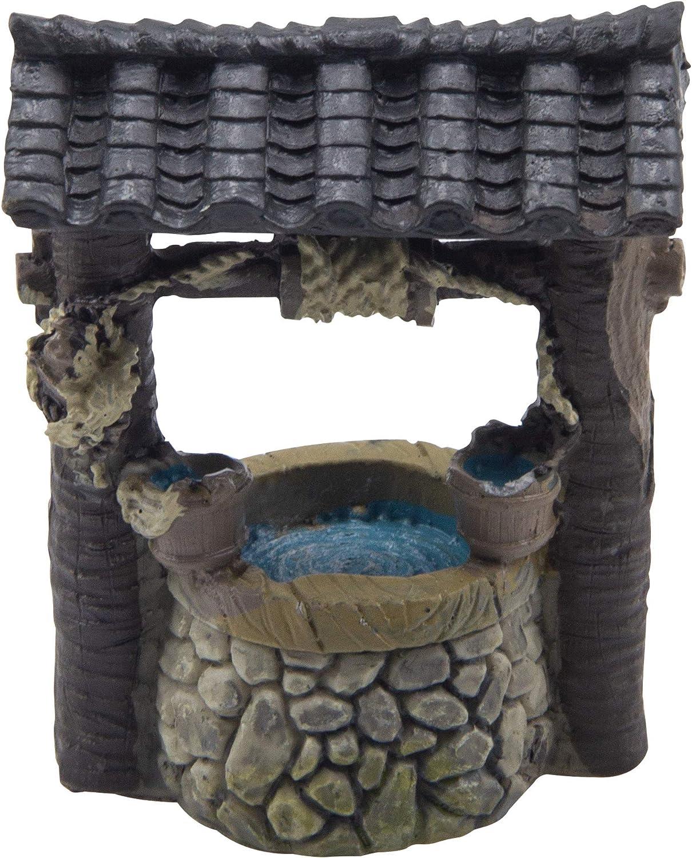 ODDIER Miniature Fairy Garden Well ,Terrarium Fairy Wishing Well Fairy Garden Decor Accessory Fish Tank Decoration