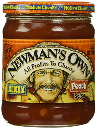 Newmans Own Salsa, Peach, 16 Oz