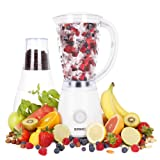 Duronic BL4 Smoothie Maker Blender with Coffee Grinder Spice Mill White 1.5 Litre - 2 Speed efficient 400W motor - pulse function