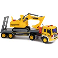 Beautiful 1/50 Truck Model Die-cast Alloy Metal Car Tractor Articulated Dump Truck Excavator Model Toy Engineering Toy For Kids Collection Diecasts & Toy Vehicles