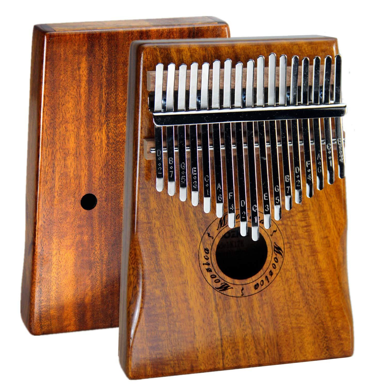 Moozica 17 Keys Kalimba Marimba, Professional Thumb Piano Sanza Mbira Musical Instrument Gift (Koa - K17K) by Moozica (Image #8)