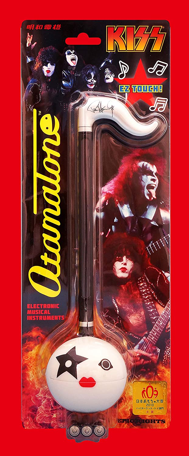 White Face with Black Body Special KISS Edition American Rock Band Gene Simmons Signature Japanese Electronic Musical Instrument Portable Synthesizer from Japan by Cube//Maywa Denki Otamatone