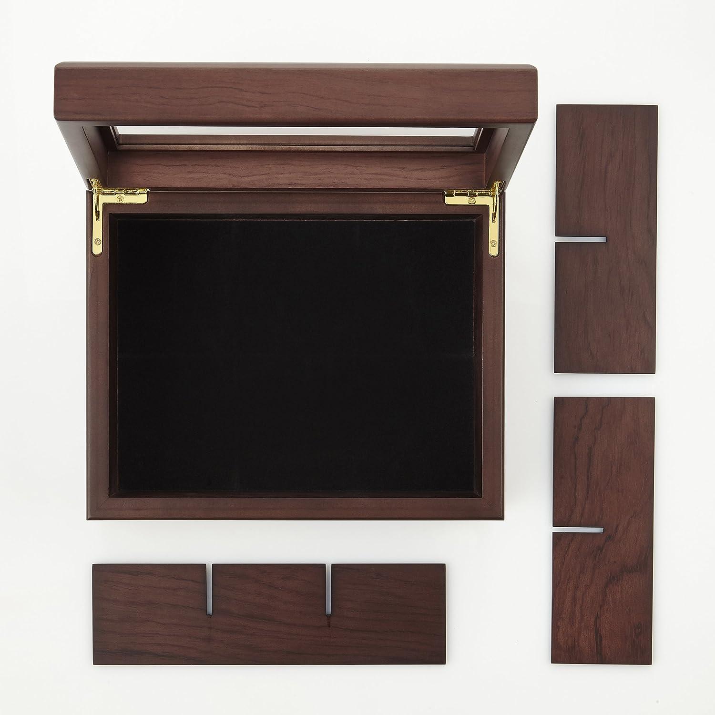 Apace Living Caja para Té - Lujoso Organizador de Madera para Guardar el Té - 6 Compartimentos Ajustables para Bolsitas de Té - Elegante y Hecha Mano con ...