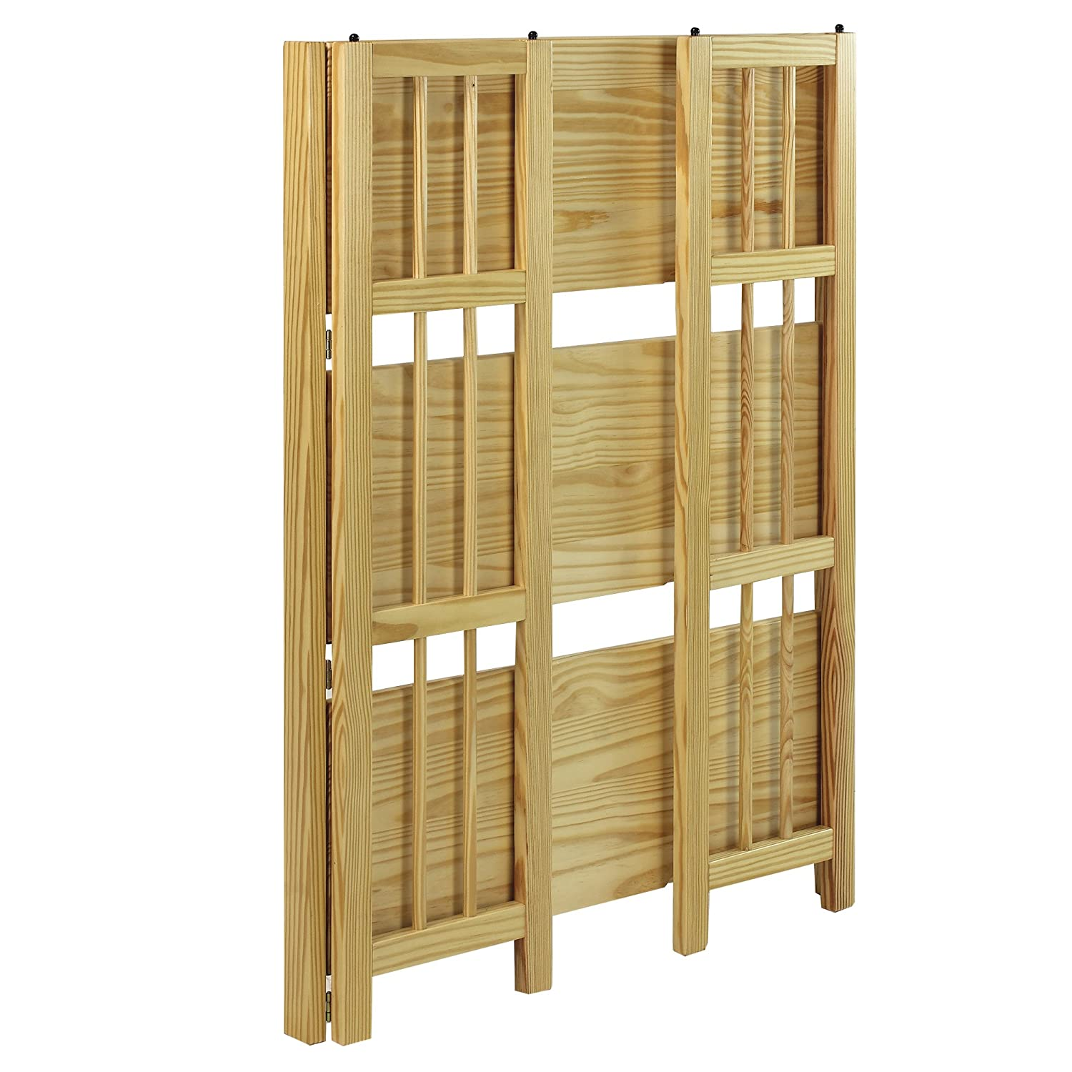 casual home 3 shelf folding stackable bookcase
