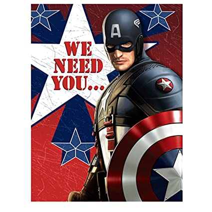 captain america invitations party accessory