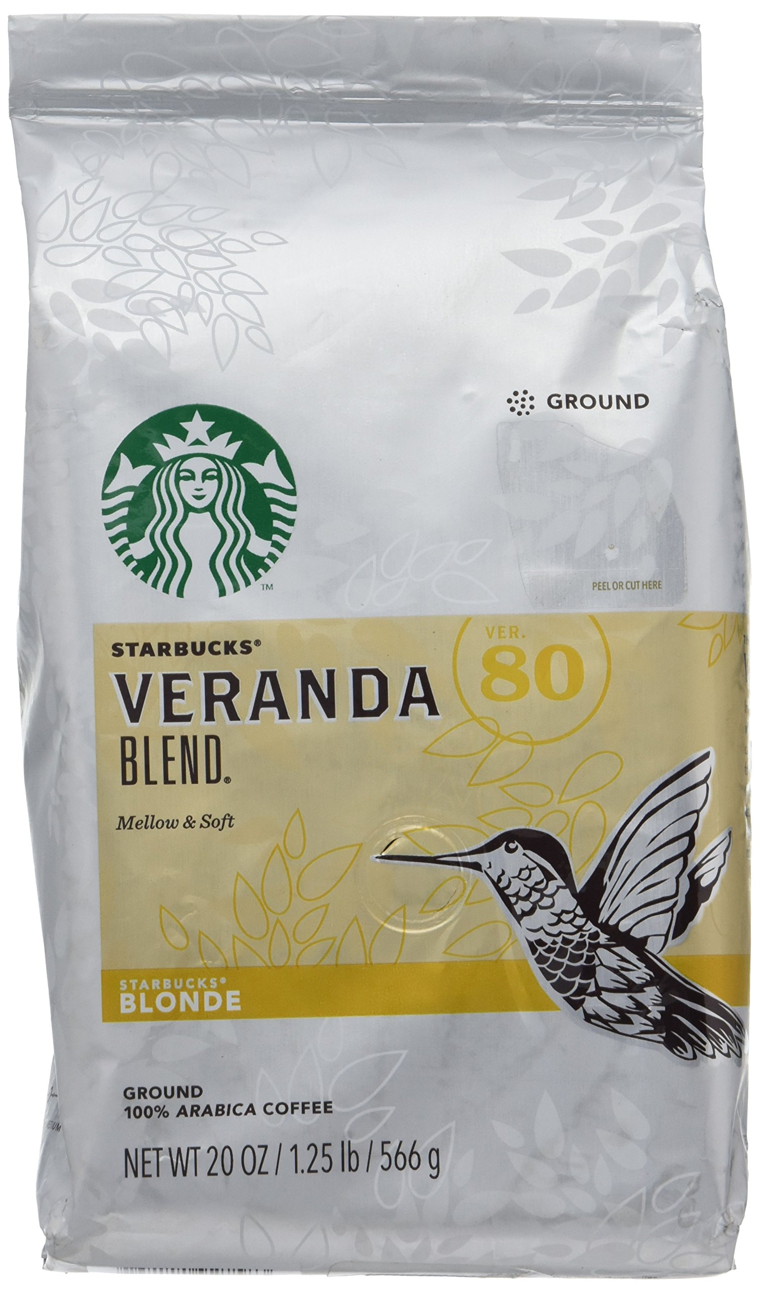 Starbucks Veranda Blend Coffee, Ground, 20-Ounce Bags (Pack of 6) by Starbucks
