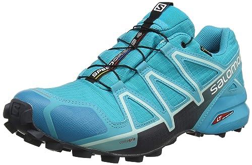 138af102 Salomon Women's Speedcross 4 GTX Trail Running Shoes Waterproof, Blue  (Bluebird/Icy Morn/Ebony), 4 UK (36 2/3 EU)